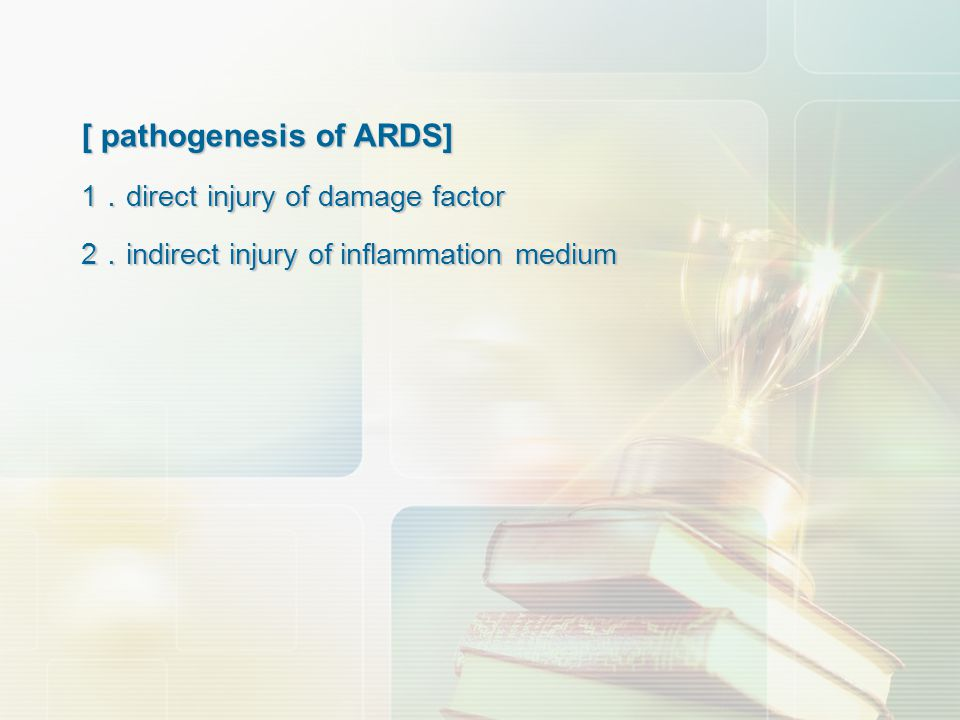 [ pathogenesis of ARDS]